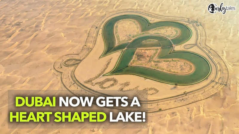 Mysterious Love Lakes Spotted Near Al Qudra In Dubai | Curly Tales