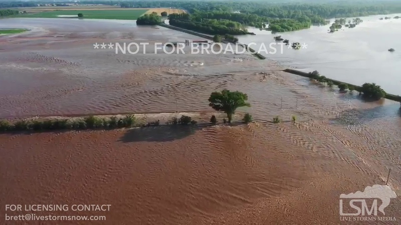 05 31 2019 Dardanelle AR Levee Failure New Drone