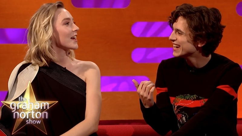 Saoirse Ronan Timothée Chalamet Joke About Pronouncing 'Timothée Chalamet'