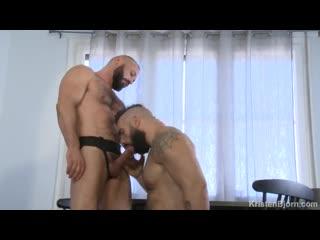 Bareback, bear, big cock, cumshot, hardcore, muscle