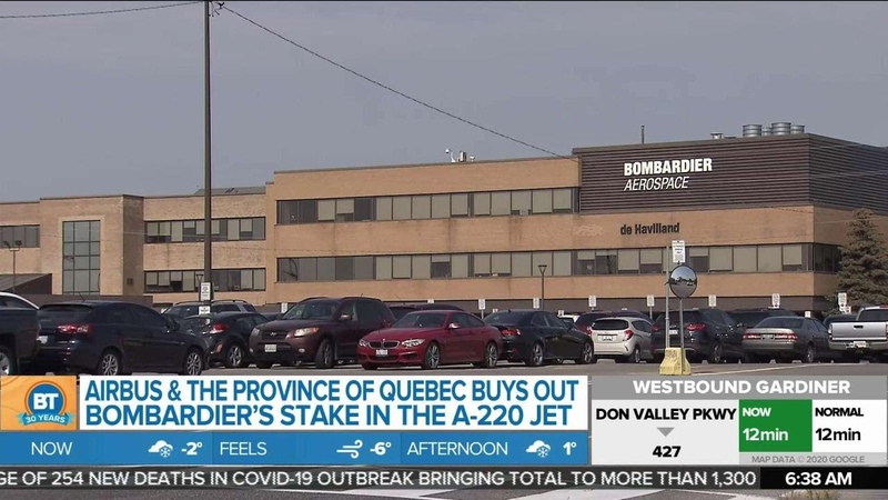Airbus Quebec government buys out Bombardier's stake in A 220 Jet