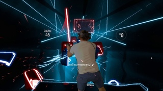 Beat Saber - Escape in Mixed reality, HTC Vive Pro, LIV recorded
