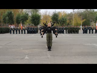 Выступление девушек на юбилей дивизии