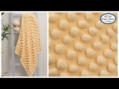 Alize Softy Plus ile Battaniye Yapımı Blanket with Our New Quality Alize Softy Plus