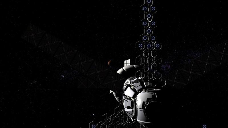 Марсианский корабль на основе ТЭМ Эскиз 3