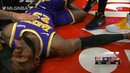 LeBron James's hilarious reaction after a hard fall Blazers vs Lakers