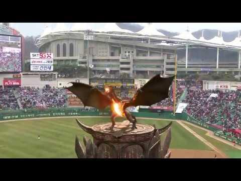 [SKTelecom 5G]SK Telecom Uses 5G AR to Bring Fire-Breathing Dragon to Baseball Park