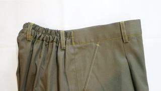 Menjahit Ban Pinggang Karet Elastik ~ Tutorial Pola Jiplak Baggy Pants Wanita Part 9