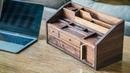 DIY Mid Century Modern Desk Organizer How To Build Woodworking