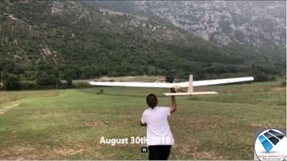 RC Solar plane no batteries. Land monitoring. Model SolarDR1L v4.0. Tests before mount solar cells
