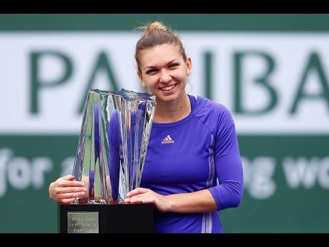 2015 BNP Paribas Open Final WTA Highlights Simona Halep vs Jelena Jankovic
