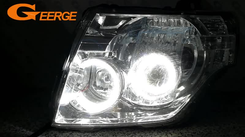 For Mitsubishi pajero 2006 2007 2008 2009 2010 2012 2013 2014 2015 2016 Excellent Ultra bright smd led Angel Eyes kit DRL