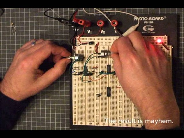 Synced Oscillator Processed by Octave Dividers 4040