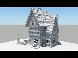 Autodesk Maya 2014 Tutorial Old House Modeling Part 5