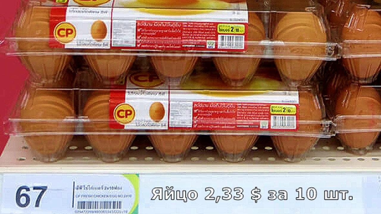 Цены на продукты и еду в Таиланде.  I-olqKD6uaU