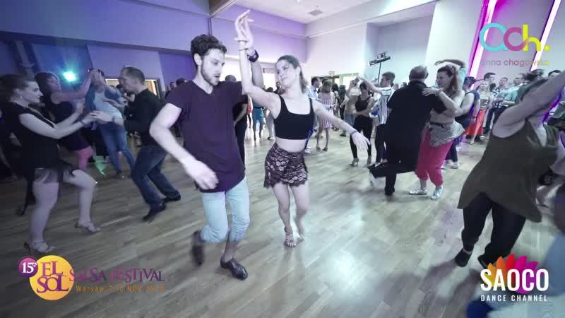 Valentin Asmod and Jen Koonings Salsa Dancing at El Sol Warsaw Salsa Festival 2019 Saturday 09.11.2019