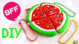 Лепим BFF Брелочки Дружбы На Рюкзак / DIY Kawaii Back to school ♡ Watermelon Friendship Charms ♡
