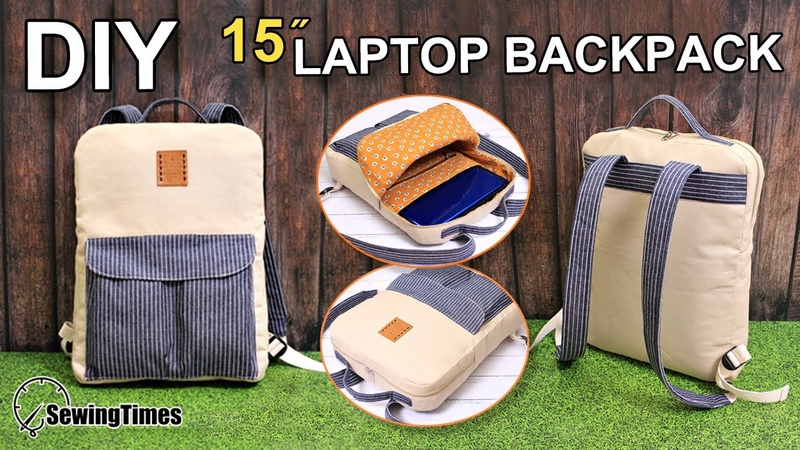 DIY 15″ LAPTOP BACKPACK | 백팩 만들기 | Slim BackPack Sewing Tutorial | Laptop Bag Making [sewingtimes]