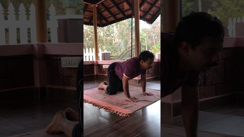 Нади Ведана асана для восстановления дыхания | д-р Лакшмиш Бхат, клиника Свастха