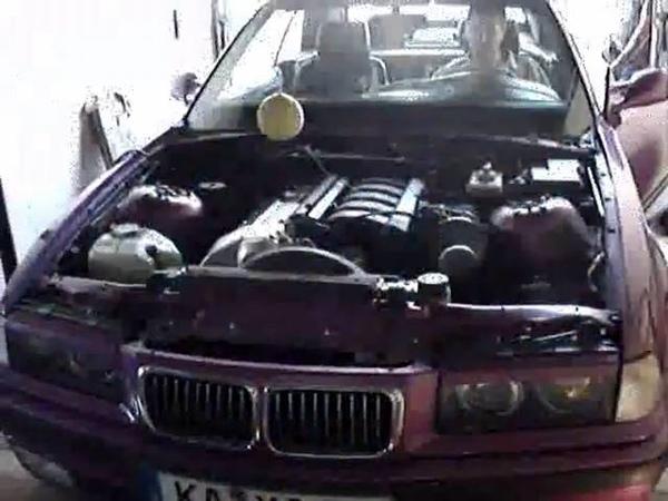 BMW M50B25TU engine without muffler