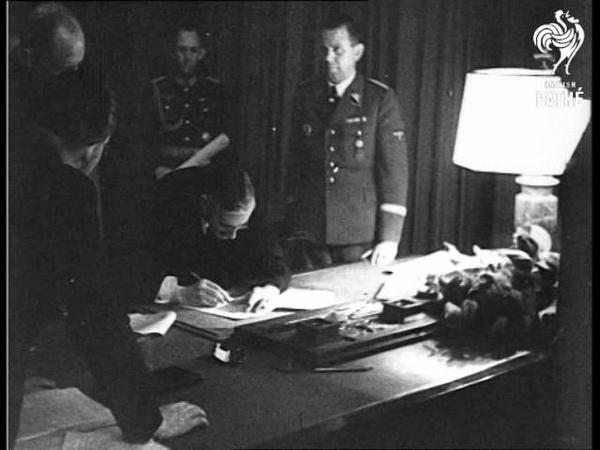 Munich Agreement Signed Hitler Mussolini Chamberlain Daladier 1938