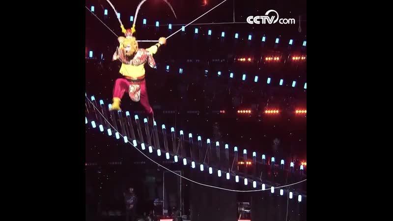 Высотное акробатическое шоу Король обезьян