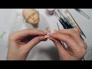 ЛЕПКА РУК. Как лепить детские кукольные ручки.