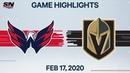 NHL Highlights Capitals vs Golden Knights Feb 17 2020