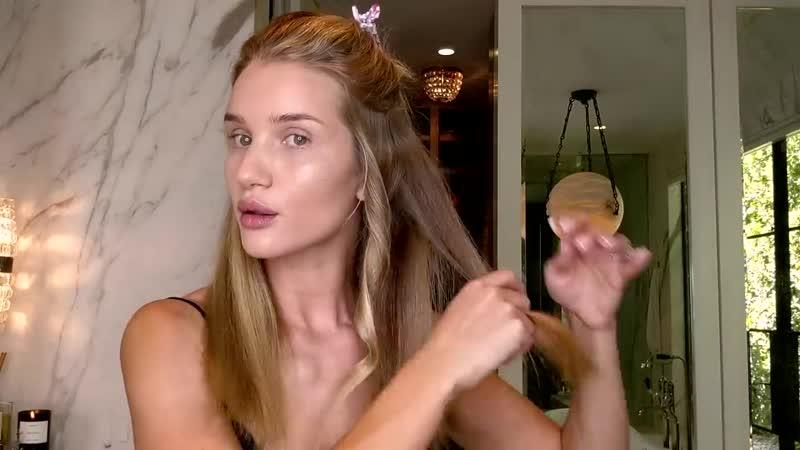 Easy beach waves hair tutorial with Rosie Huntington-Whiteley
