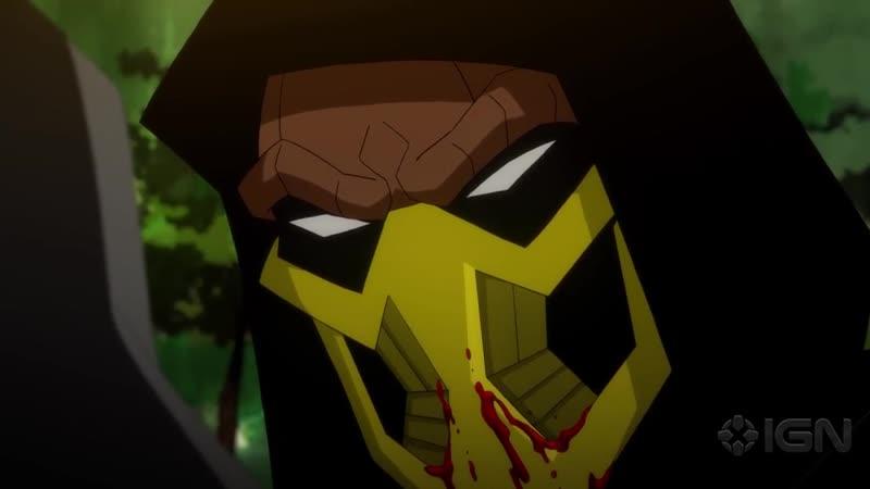 ЛЕГЕНДЫ СМЕРТЕЛЬНОЙ БИТВЫ Месть Скорпиона Mortal Kombat Legends Scorpion's Revenge Отрывок Драка