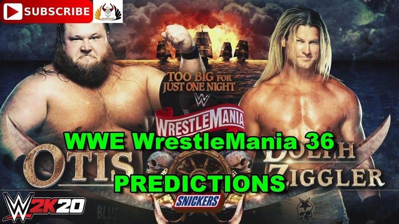 WWE WrestleMania 36 Otis vs Dolph Ziggler Predictions WWE 2K20
