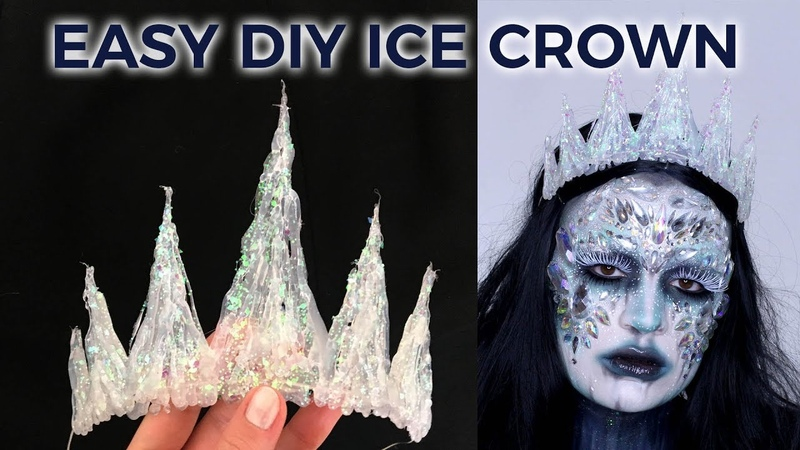 HOW TO MAKE EASY ICE QUEEN CROWN | HOT GLUE GLITTER