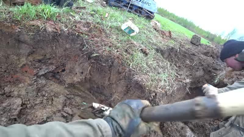 [Юрий Гагарин - Russian war diggers] БЛИНДАЖ НА МИННОМ ПОЛЕ! Раскопки Юрий Гагарин
