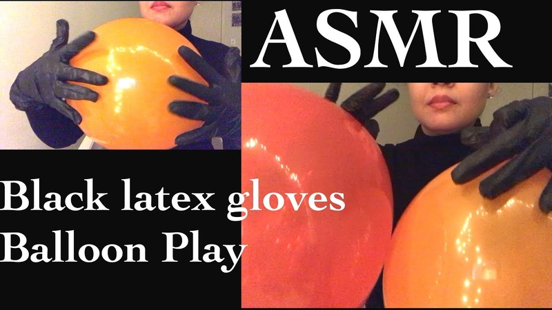 ASMR- Balloon Sounds with Black Latex Gloves