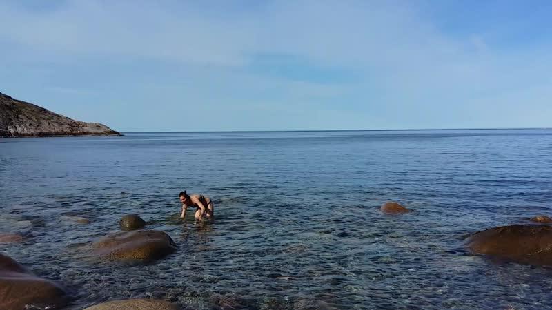 Териберка. Купание в Баренцевом море.