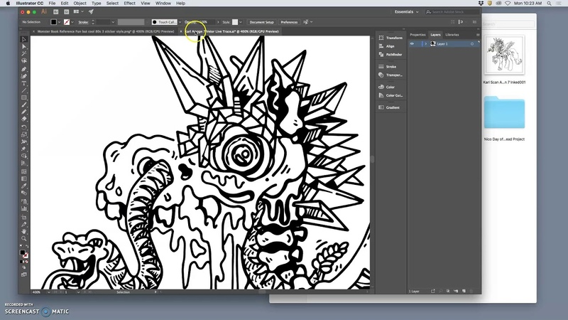 2 Introduction to the Fabulous Blob Brush Tool in Illustrator for Digital Inking
