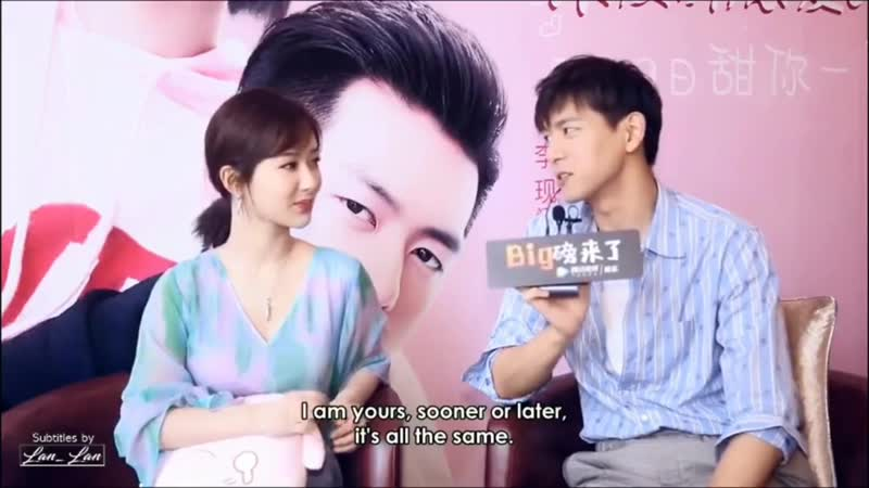 Li Xian and Yang Zi recreate lines `I'm your's sooner or later` 😻