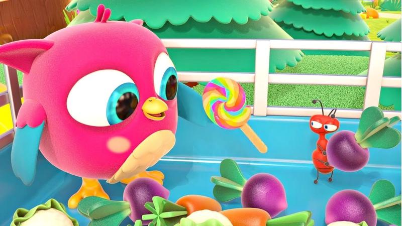 Совенок Хоп хоп и Грядка с овощами Развивающие мультики для малышей