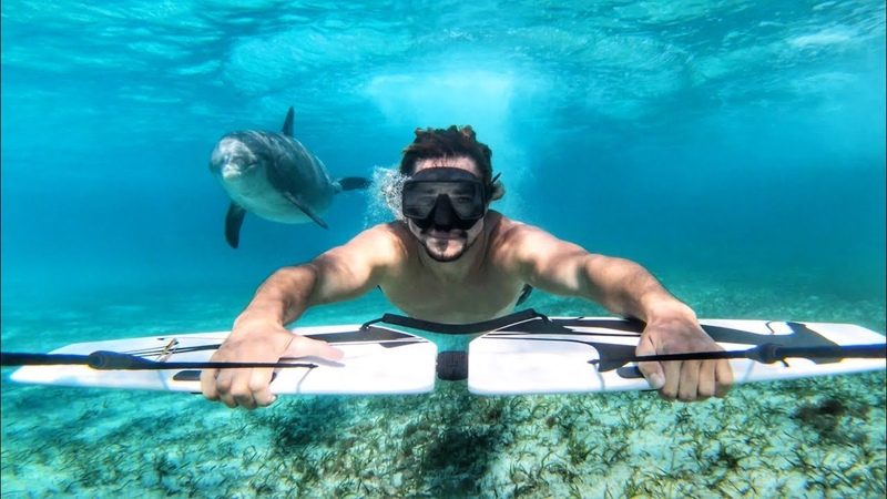 Austin Keen Surfing With Dolphins GoPro Million Dollar Challenge Wakesurfing