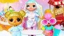 Видео с куклами ЛОЛ - Пижамная и Сладкая вечеринки для LOL Surprise! - Онлайн игры для девочек