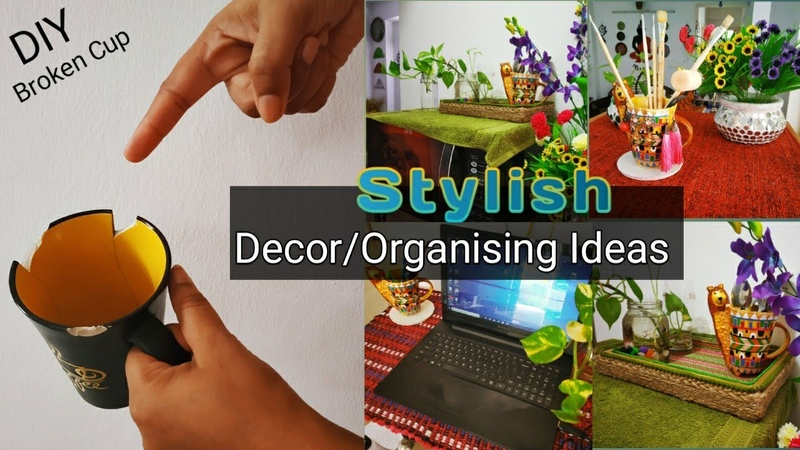 Smart and Stylish Decor organizing ideas Tute Hue Cup Ka Behtarein Decor Broken Cup Recycle