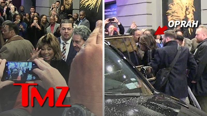 Tina Turner Cheered as She Leaves Musical, Oprah and Whoopi There   TMZ Too