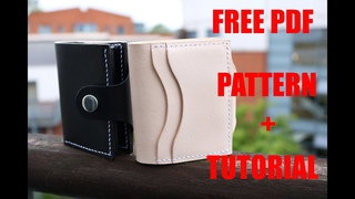 How to make a bifold wallet, FREE PDF Pattern +step by step instruction