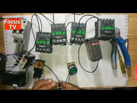 How to control wiring of forward and reverse star delta three phase motor starter