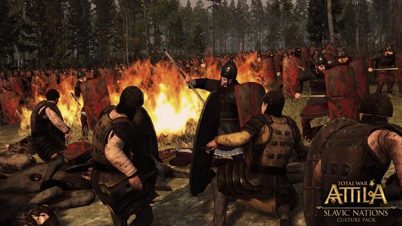 КАМПАНИЯ ЗА СЛАВЯН НА ЛЕГЕНДЕ СКЛАВИНЫ В TOTAL WAR ATTILA