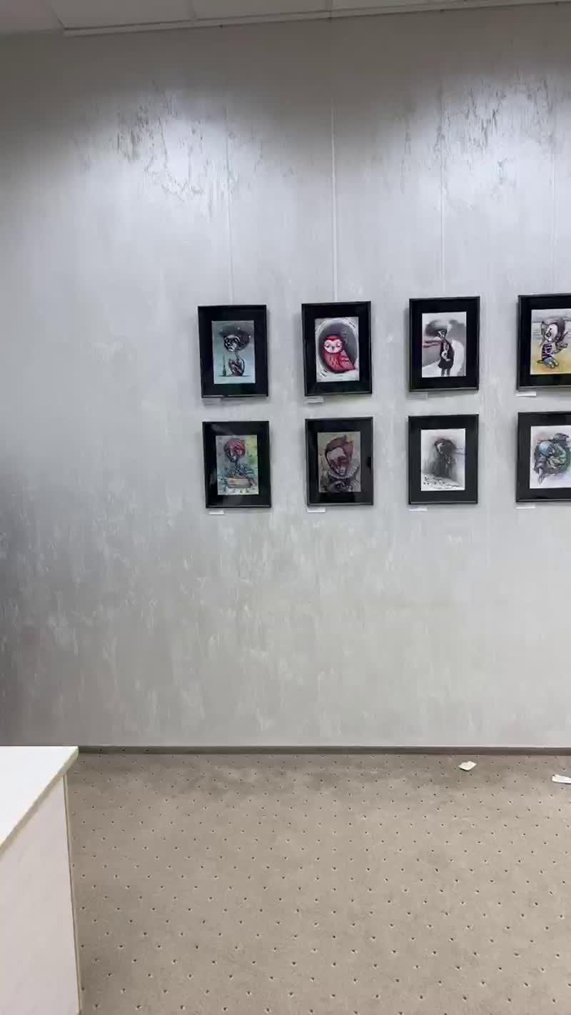 Подготовка к выставке Арсения Никитина