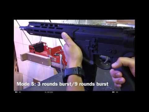 EMG Noveske Gen.4 SBR Airsoft Training rifle demo.