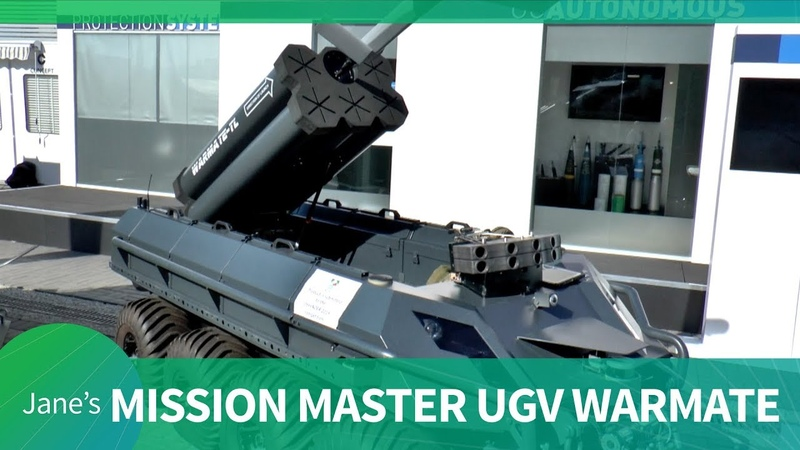 MSPO 2019 Rheinmetall presents Mission Master UGV with Warmate loitering munition