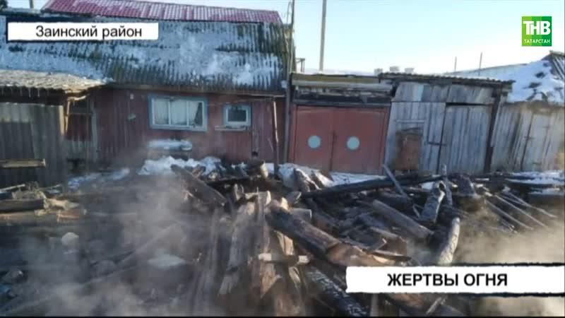2 й летний ребёнок и 40 летний отец девочки заживо сгорели в Заинском районе