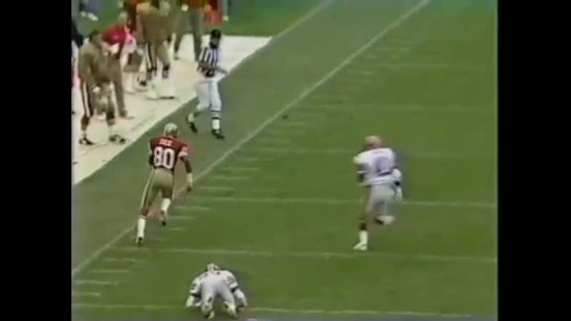 Джерри Райс против Диона Сандерс 1989 год лучшие моменты американский футбол